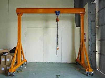 Cổng trục đẩy tay sử dụng palang xích kéo tay