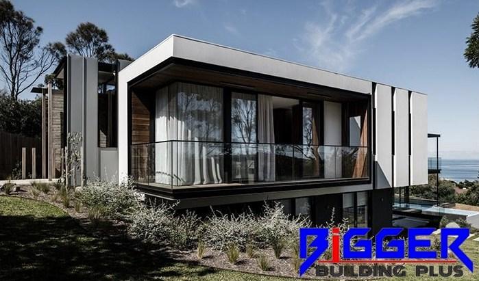 nhà phố khung thép mẫu 11